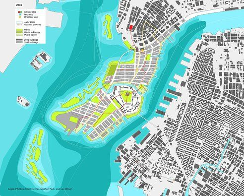 Extending Lower Manhattan some 88 million sq. ft. Proposal by the Center for Urban Real Estate at Columbia University