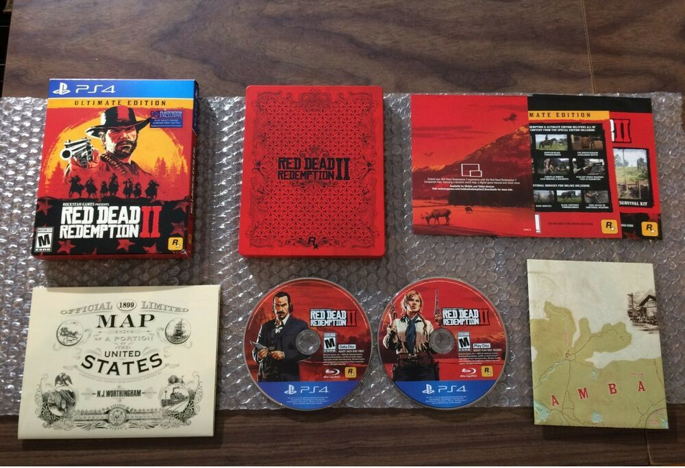 Red Dead Redemption Ii 2 Ultimate Edition Steelbook Sony Playstation 4 Ps4 Reddeadredem Red Dead Redemption Ii League Of Legends Game Red Dead Redemption