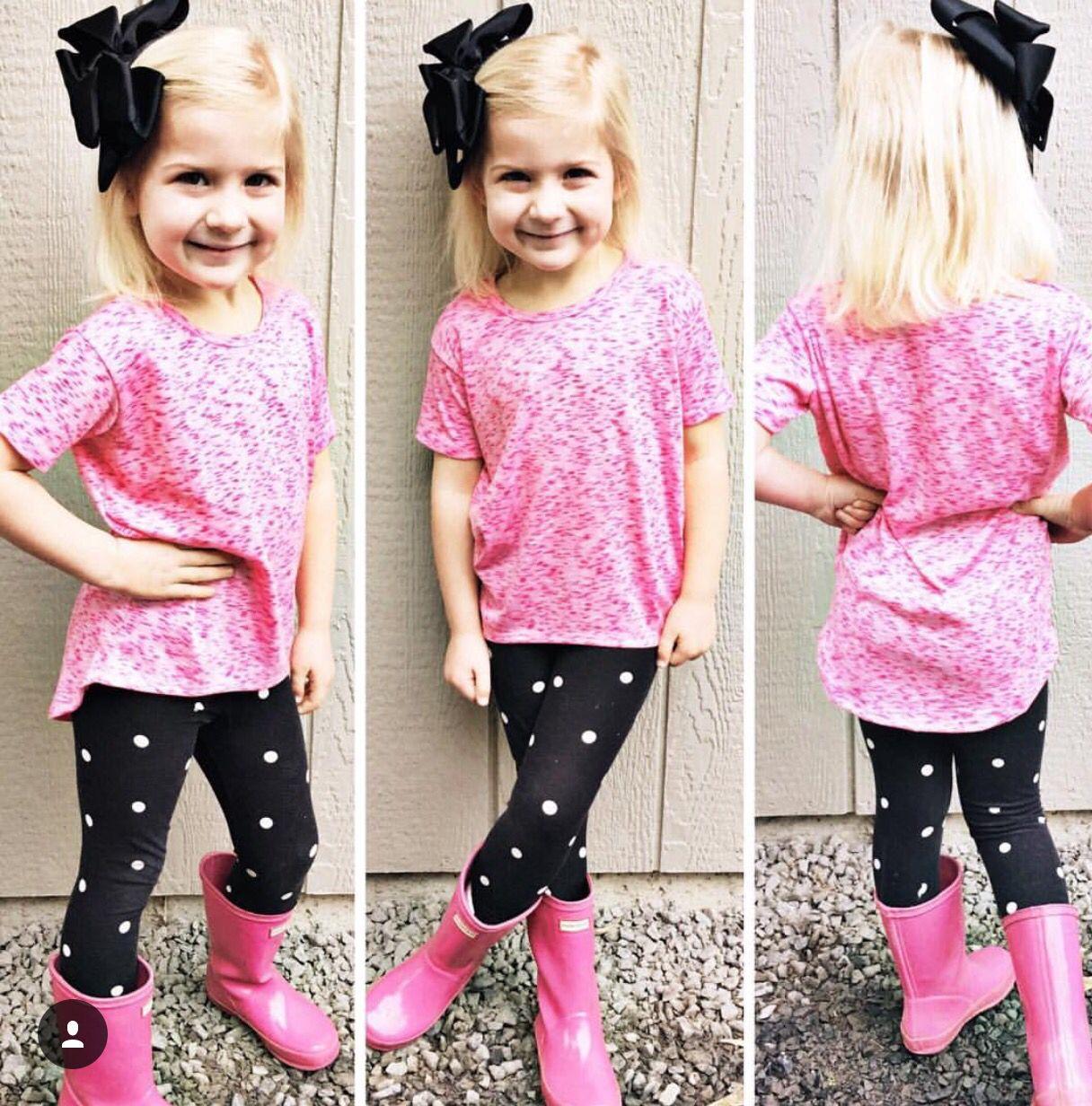 Little girls Gracie and leggings | LuLaRoe Clothing | Pinterest | Girls