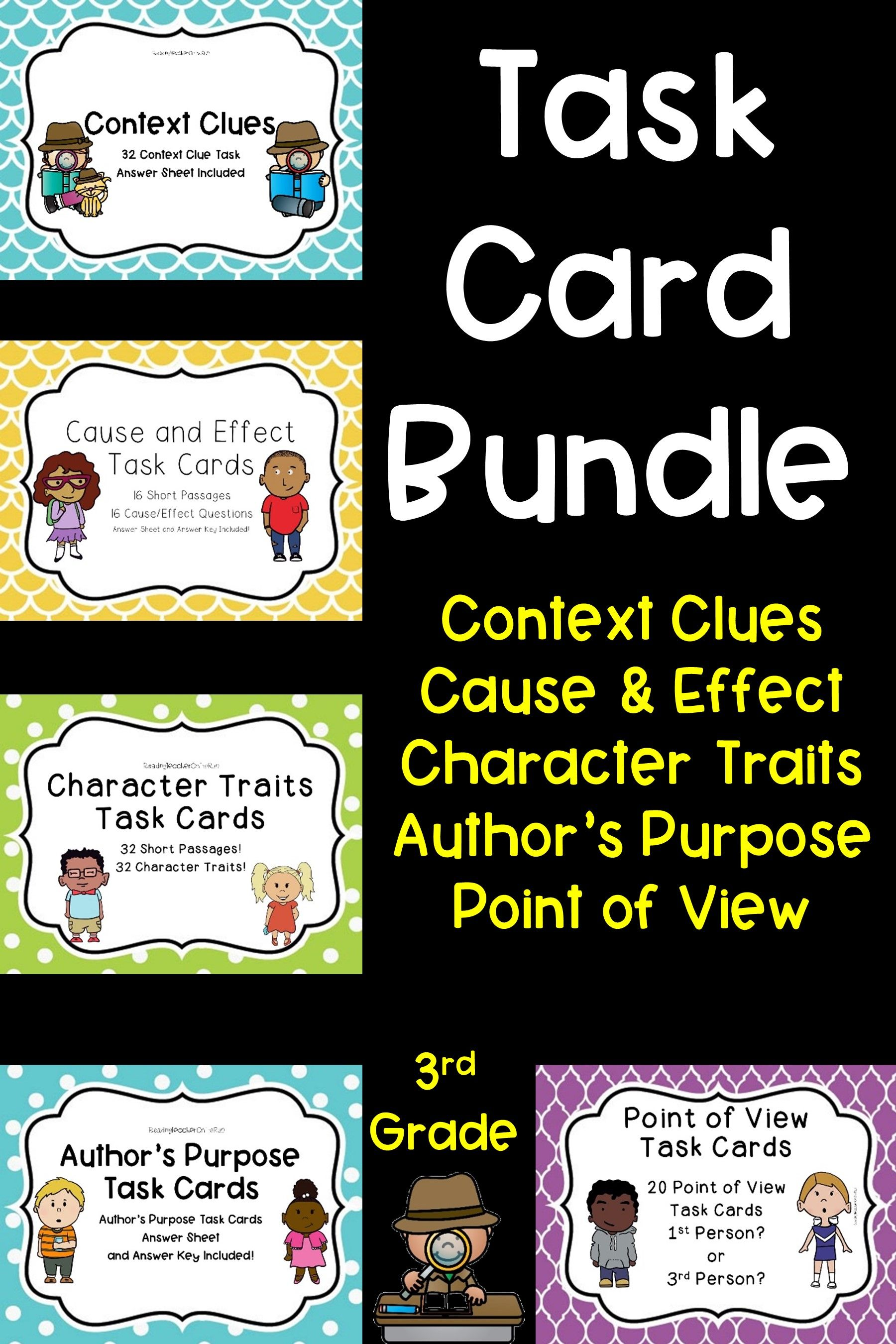 Reading Skill Task Card Bundle