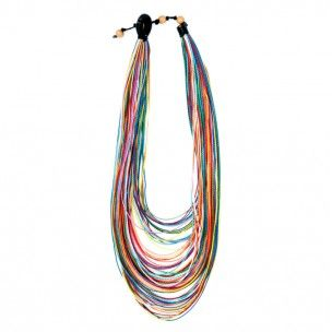 All colors of the rainbow necklace