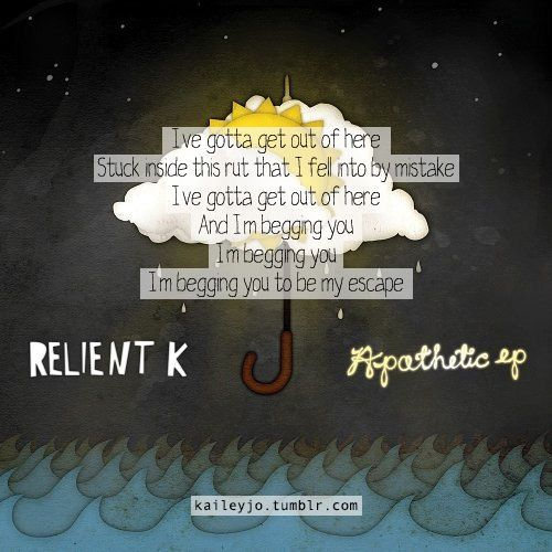 Be My Escape From The Apathetic Ep Relient K Slightly