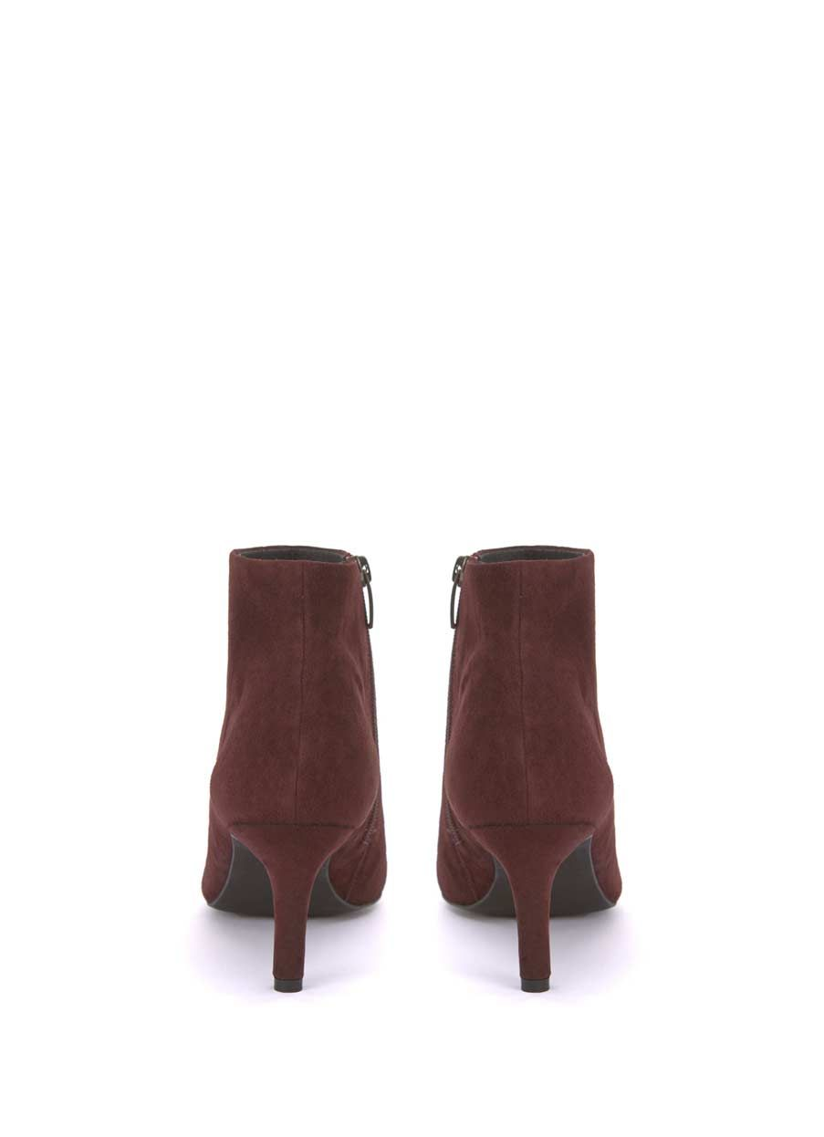 091f69a19fb2 These bordeaux suede heeled boots are the perfect addition to your  wardrobe. Available in sizes 3-8. The heel height measures 7cm/2.8in.