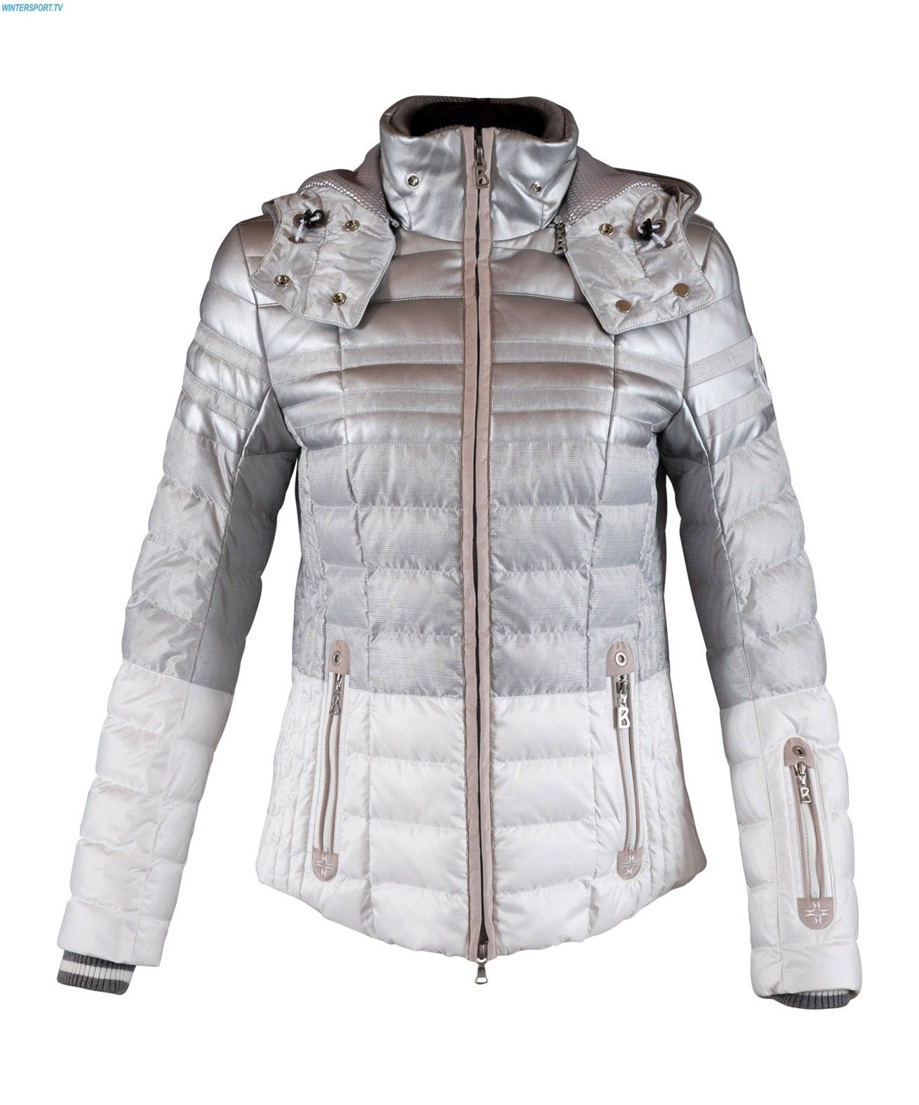 Bogner Women Tea D Jacket - Silver Grey  2e068ec2b