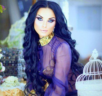 blue black hair colour beautiful on tan skin hair