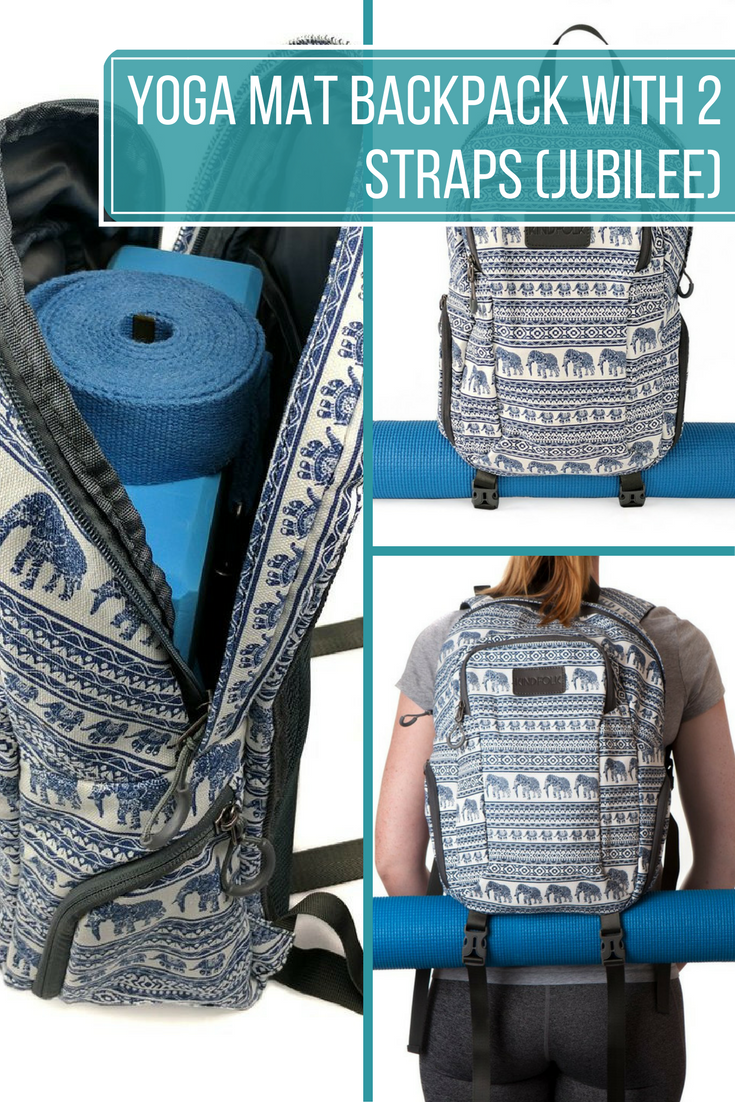 YOGA MAT BACKPACK WITH TWO STRAPS (JUBILEE) - he excellent design gives you  versatility ae5ad8910e2aa