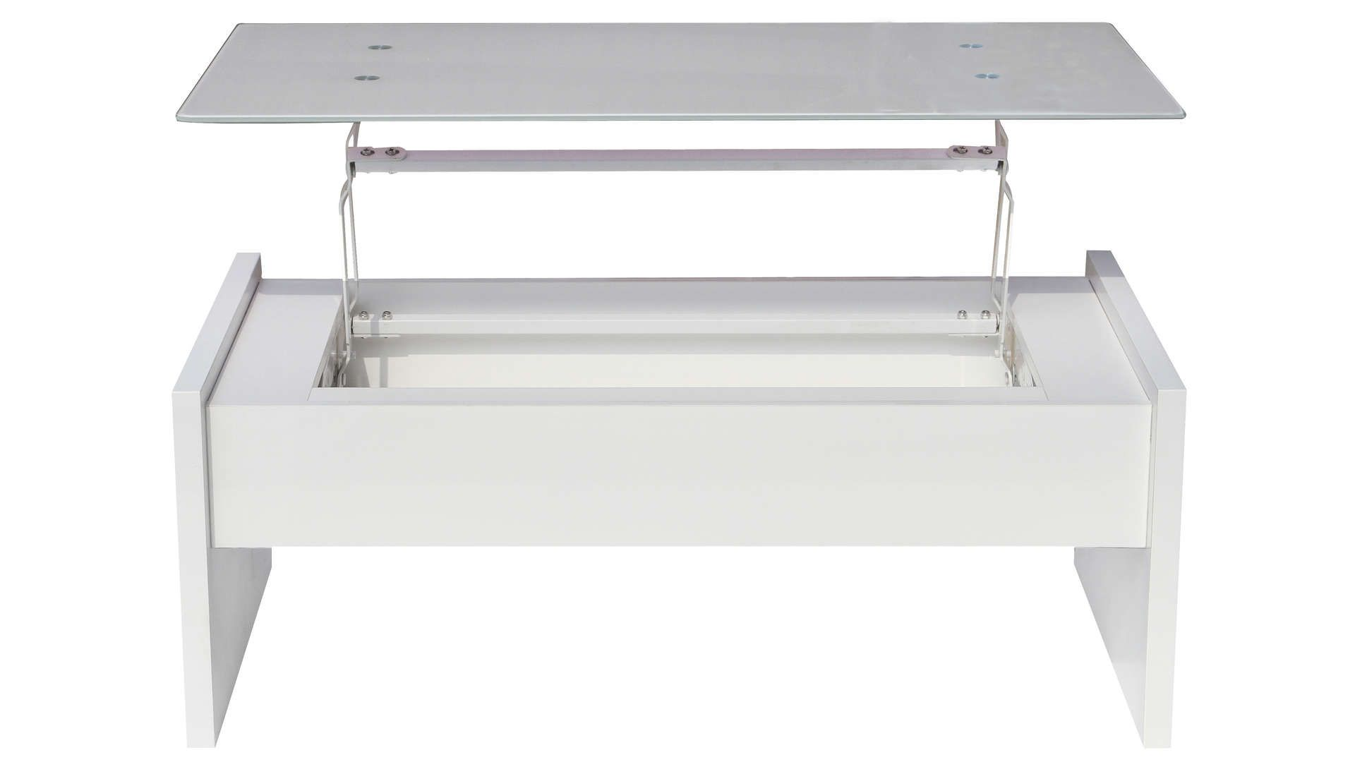 Table Basse Rectangulaire Avec Plateau Relevable Lexie Coloris Blanc Table Basse Rectangulaire Table Basse Et Plateau
