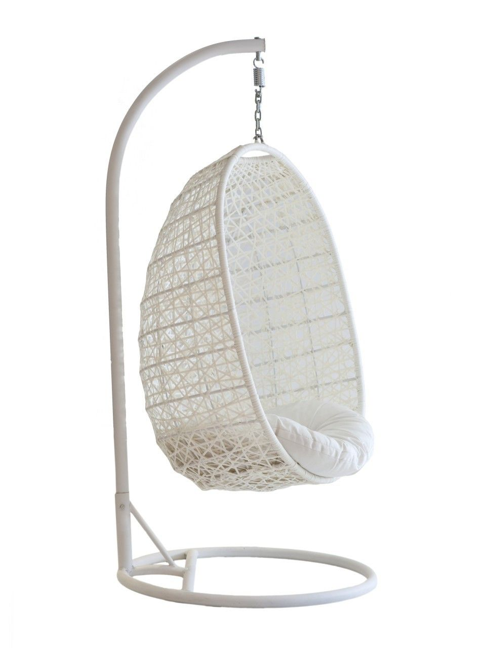 Furniture Charming White Viva Design Cora Hanging Chair Design With Stand For Beautiful Outdoor