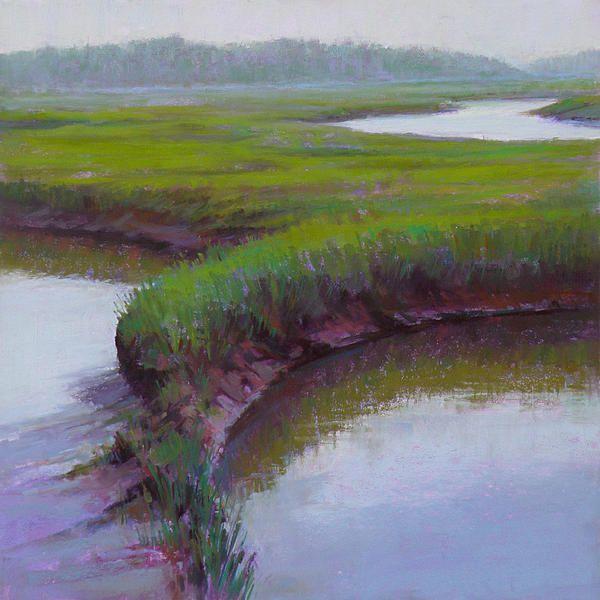 Cape Cod Spring: Ed Chesnovitch, Landscape Pastel Painting, Cape Cod, East