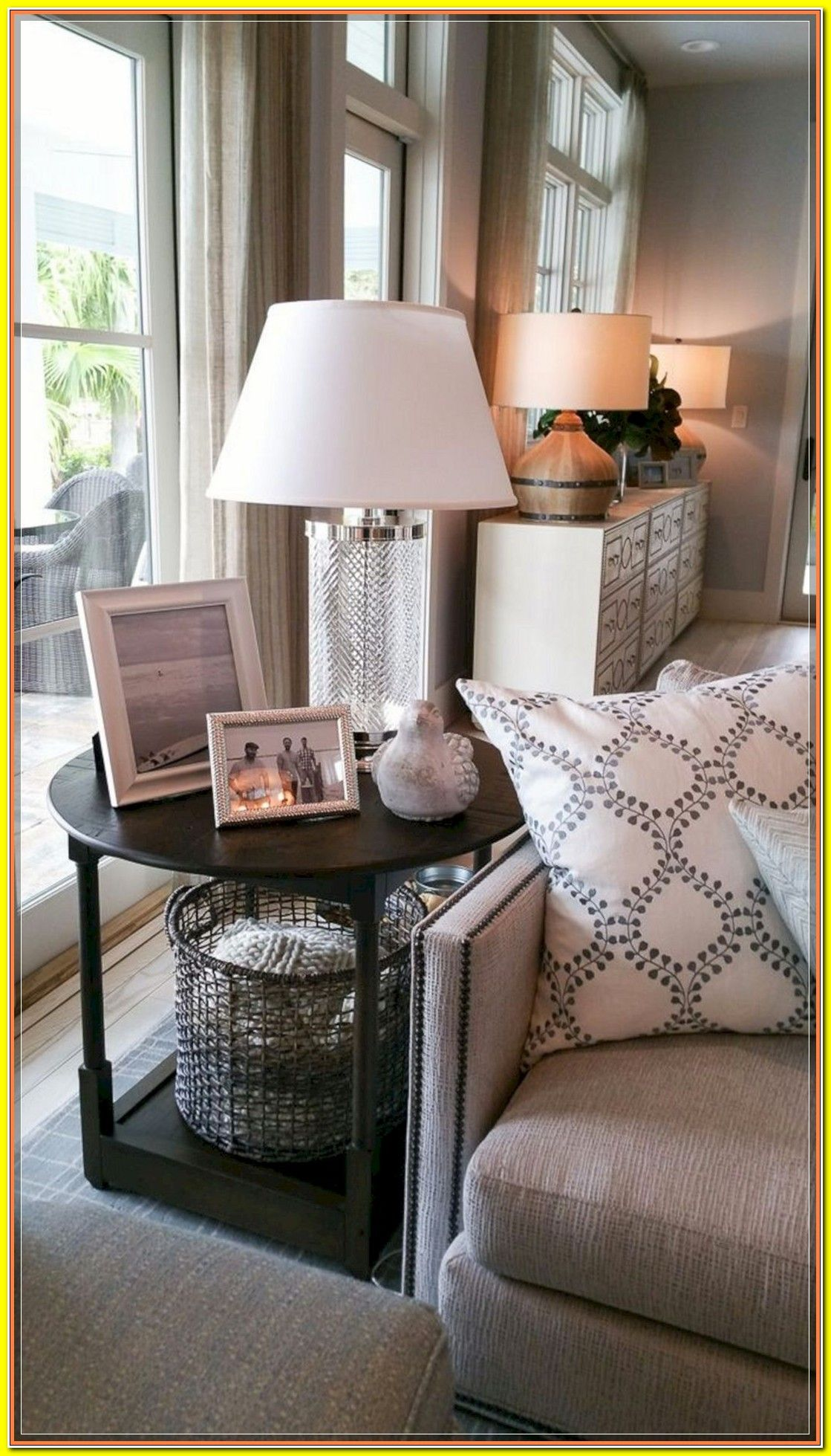 Diy House Decorating Ideas Upon A Budget High Style Low Budget Inexpensive Thanks In 2020 Living Room Side Table Table Decor Living Room Living Room End Tables