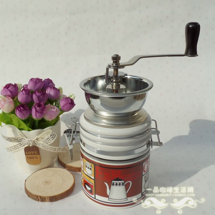 D ceramic canister hand grinder coffee bean grinding