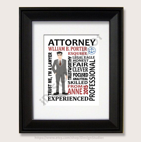 Personalized Attorney Gift Boss Day Gift Lawyer By