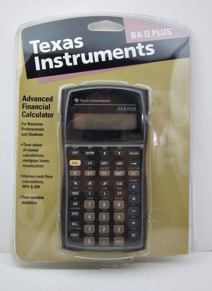 Texas Instruments TI BA II PLUS Advanced Financial