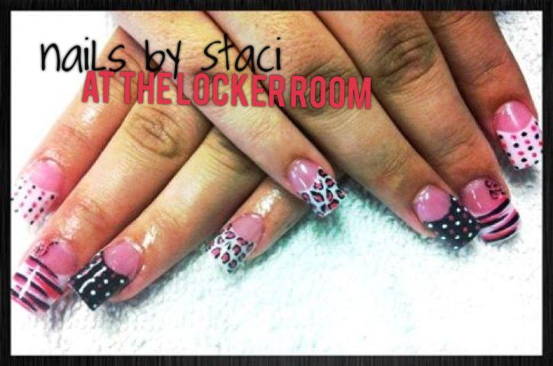 Polka dots nail art   Staci\'s Nail Artistry   Pinterest   Dot nail art