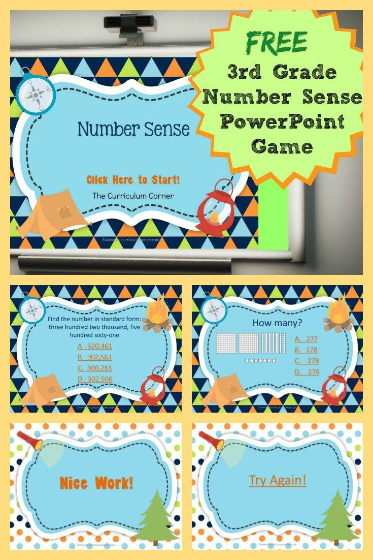 3rd Grade Number Sense Powerpoint Game Guided Mathmath Workshop