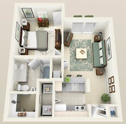 The Sanibel One Bedroom One Bath 635 Sq Ft Sims House Design Apartment Layout Small House Design