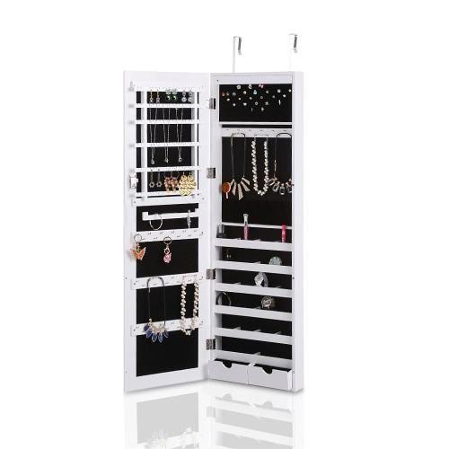 TomTop TomTop iKayaa Lockable Hanging Jewelry Cabinet Makeup