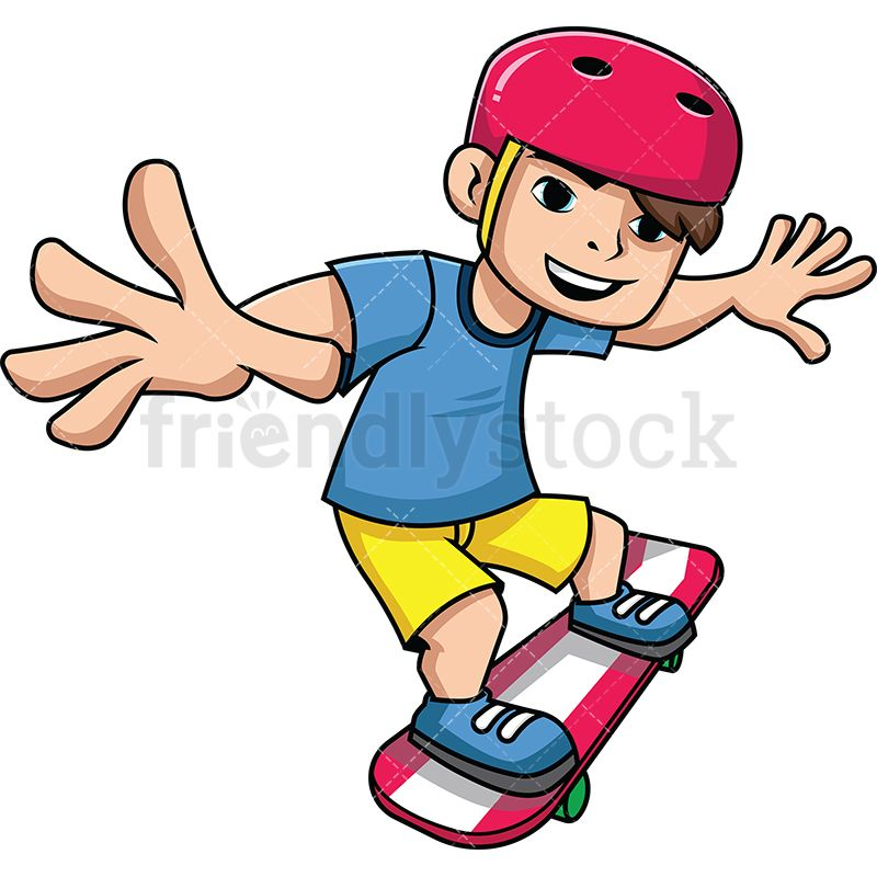 Teenager On His Skateboard Cartoons Vector Cartoon T Shirt And