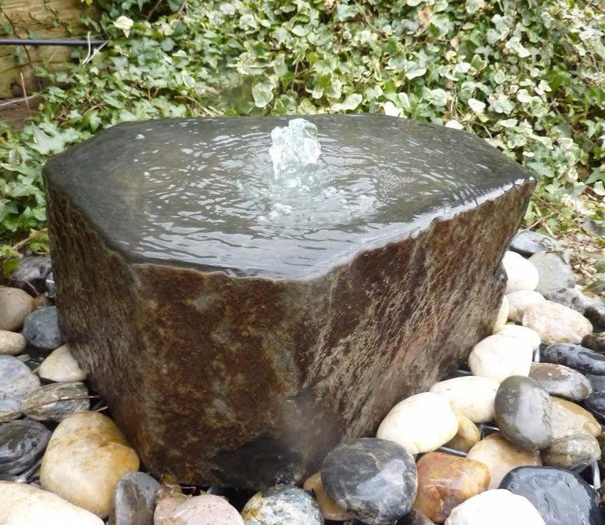 Raised Babbling Basalt 45 50cm Feature Water Features In The Garden Outdoor Water Features Stone Water Features