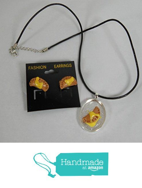 Pierogi with butter Earrings and Necklace Set Empanada pierced Miniature Food Earrings Fake from Chef Gina's LLC http://www.amazon.com/dp/B018C6OJS2/ref=hnd_sw_r_pi_dp_TlhHwb0S32KN5 #handmadeatamazon