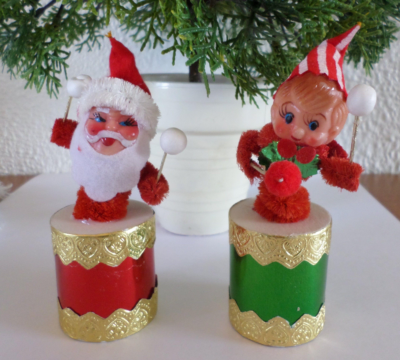 Vintage Plastic Santa or Snowman Pipes 3
