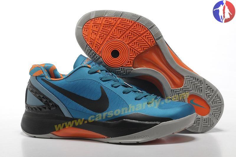 Nike Zoom Hyperdunk Low 454138 002 Bright Blue Black Orange