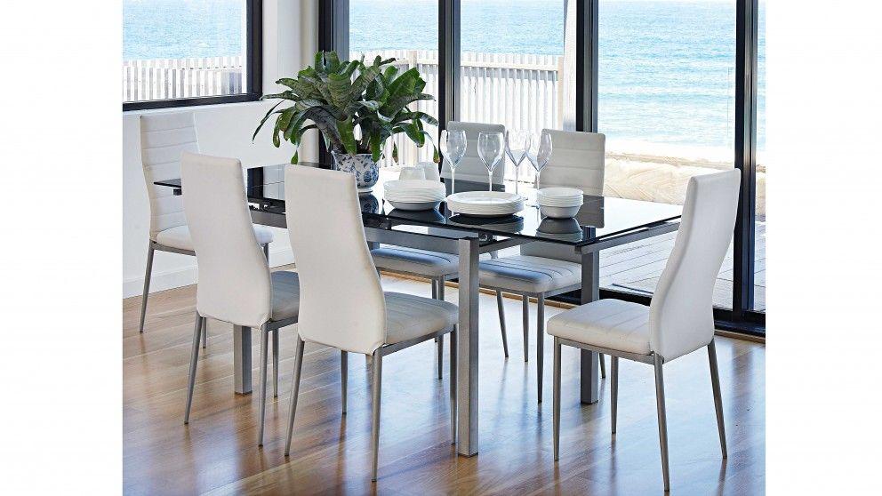Sarah 7 Piece Extension Dining Suite Dining Furniture Harvey