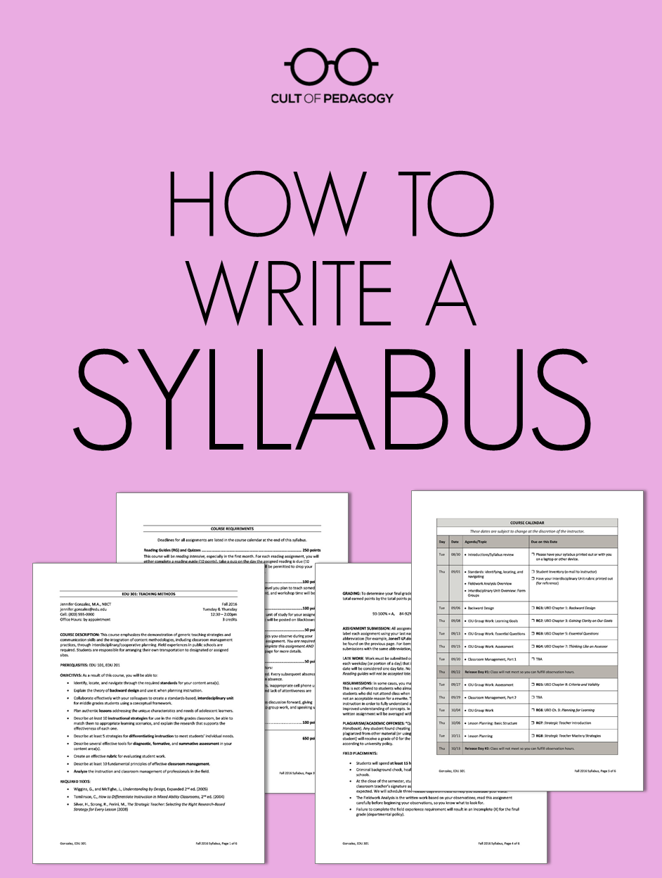 how to write a syllabus teaching pinterest middle school