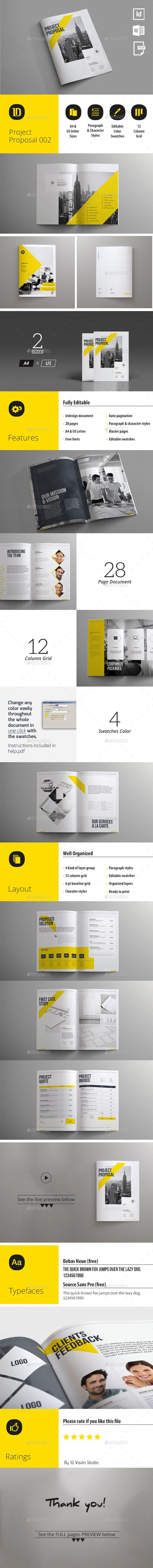 Project Proposal Template 003 | Project proposal, Proposal templates ...