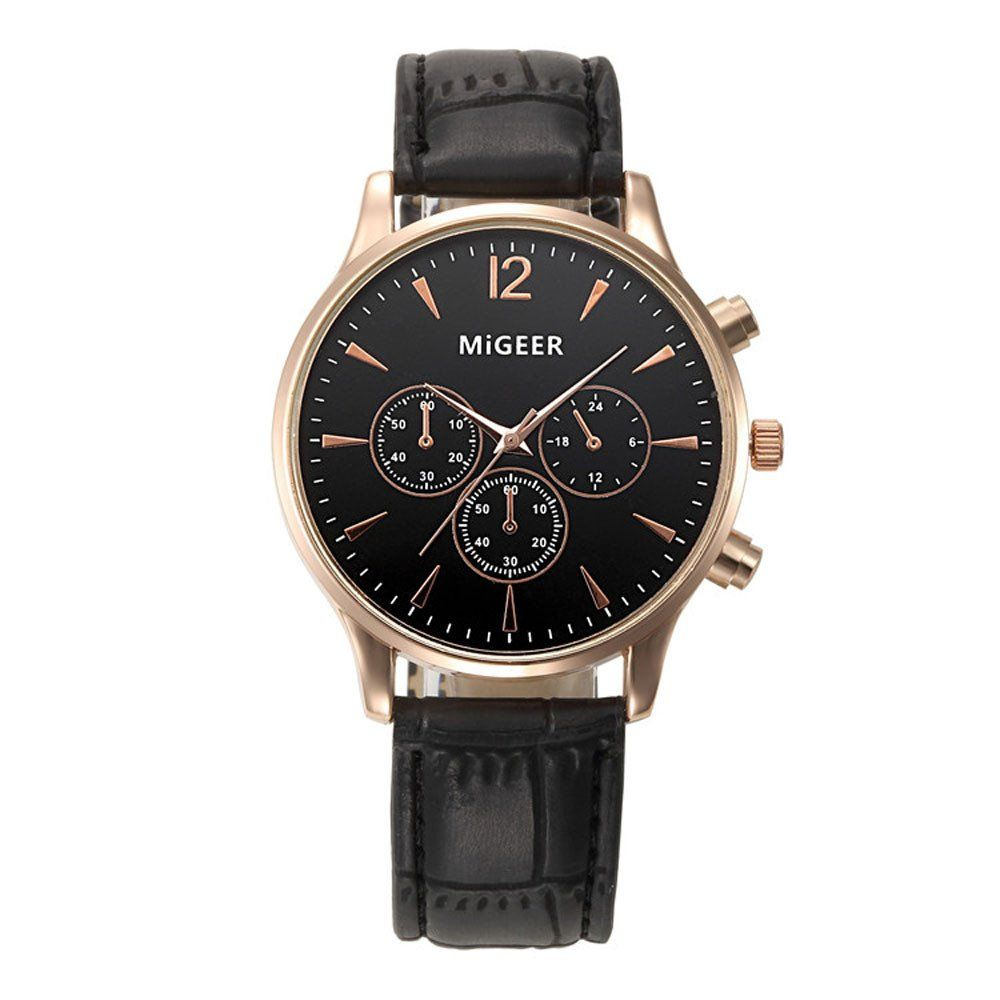 #Migeer Men's Leather #Quartz Watch Only $19.50 Free Delivery 20% off with email address Check it out !!
