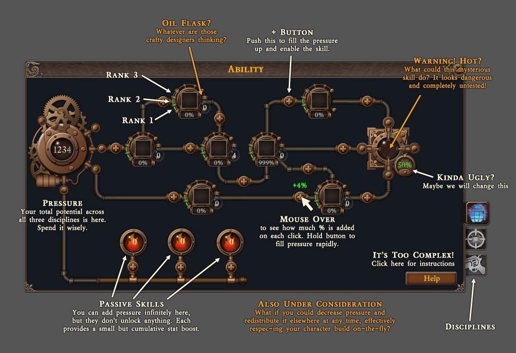 City of Steam Design Dev Journal - Skill Tree news - Indie