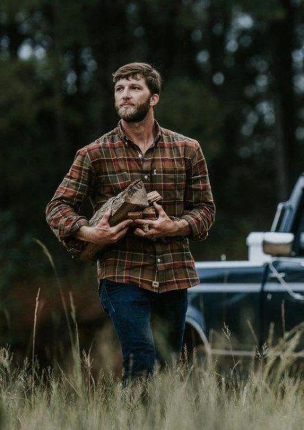 Men Classic Plaid Lapel Shirt In 2020 Flannel Outfits Men Mens Flannel Shirt How To Wear Flannels