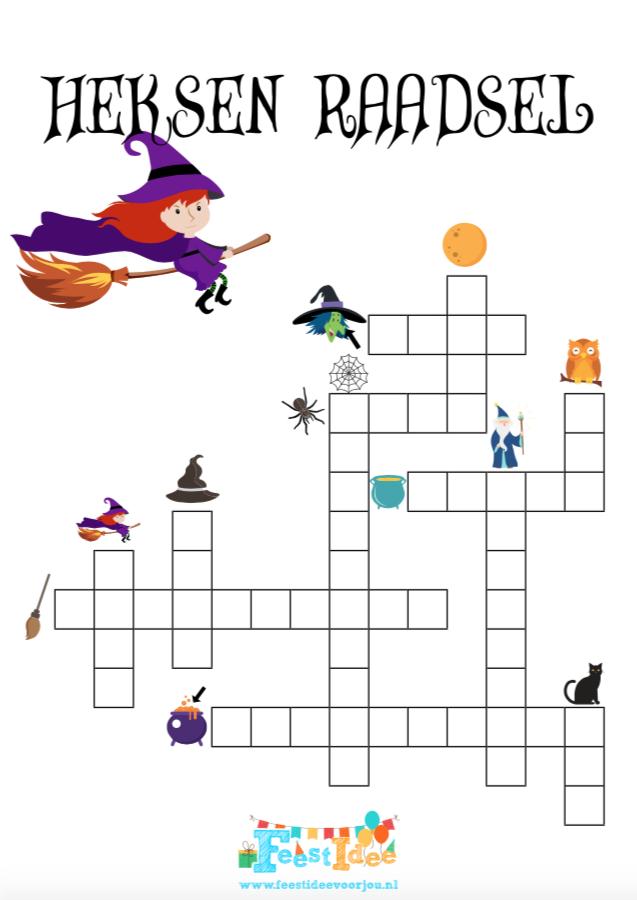 Raadsels Halloween.Heksen Raadsel Voor Een Heksenfeestje Of Sprookjesfeest