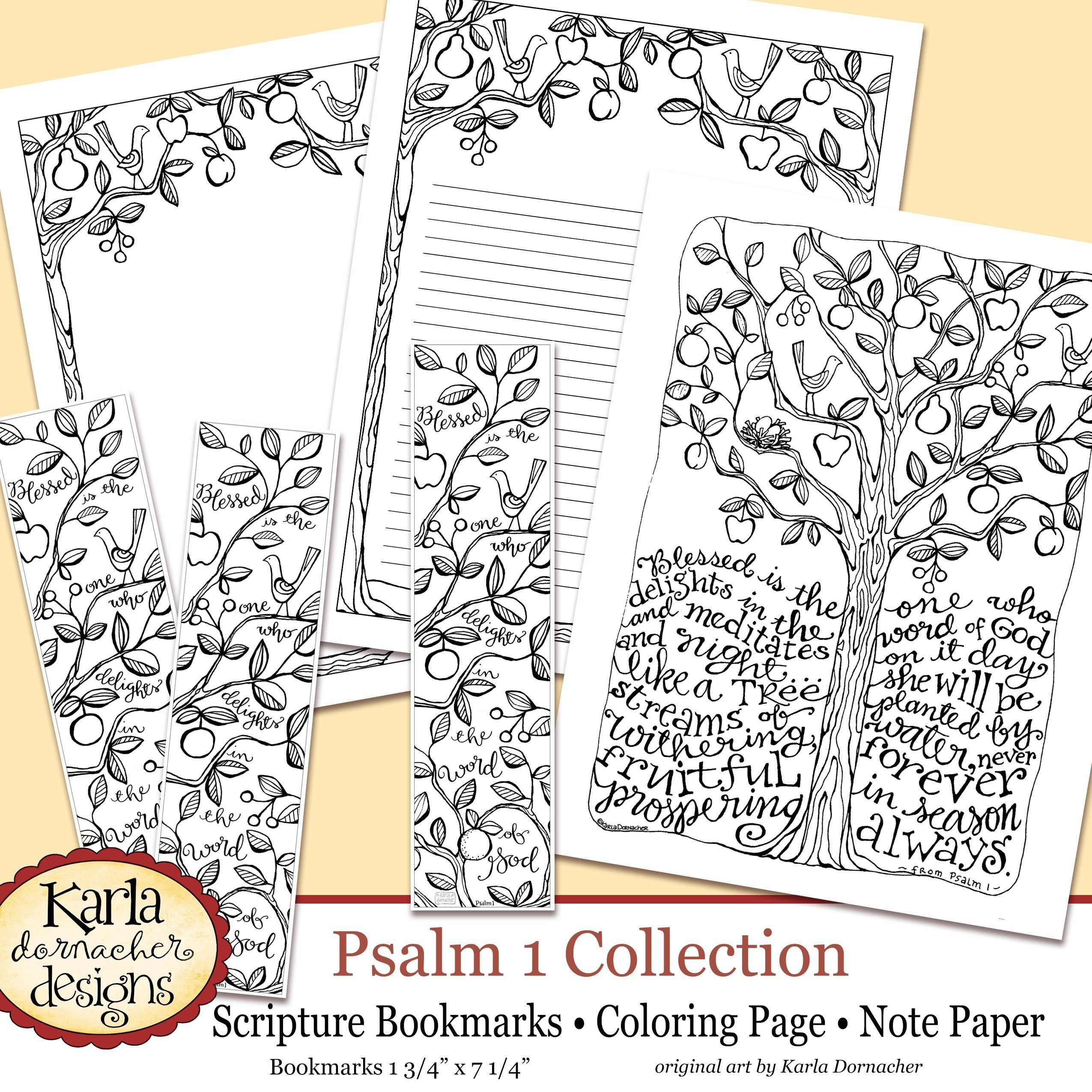 Psalm 1 Be Like A Tree Coloring Collection New Beginnings