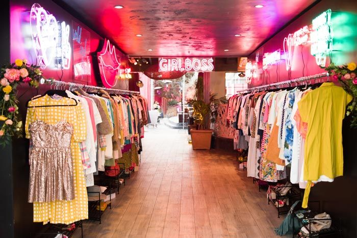 The Premiere For Netflix 39 S New Comedy Series Girlboss Took Place April 17 At Arclight Cinema Vintage Clothes Shop Pink Clothing Store Clothing Store Design