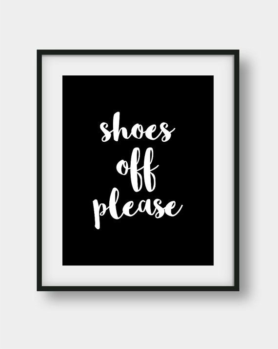f3b9295ed944d Shoes Off Please Sign, Shoes Off Poster, Shoes Off Print, Please ...