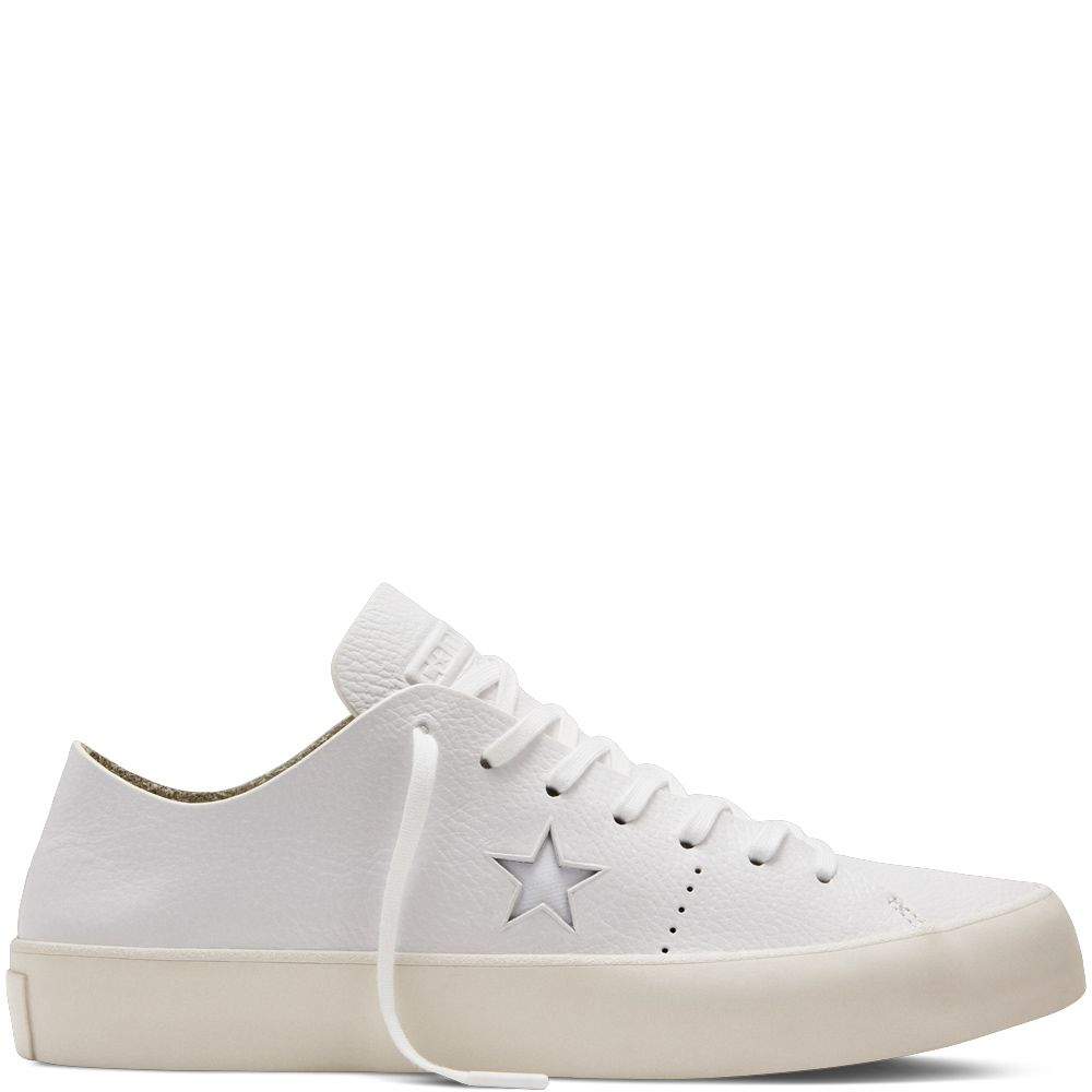 f4fabd2f023 CONS One Star Prime Leather White white white egret