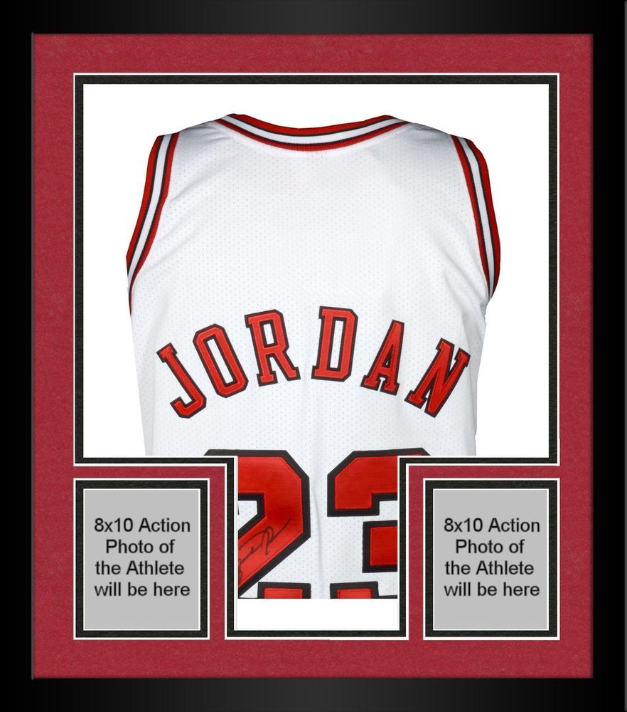 Framed Michael Jordan Chicago Bulls Signed 1997-98 M&N White Jersey ...