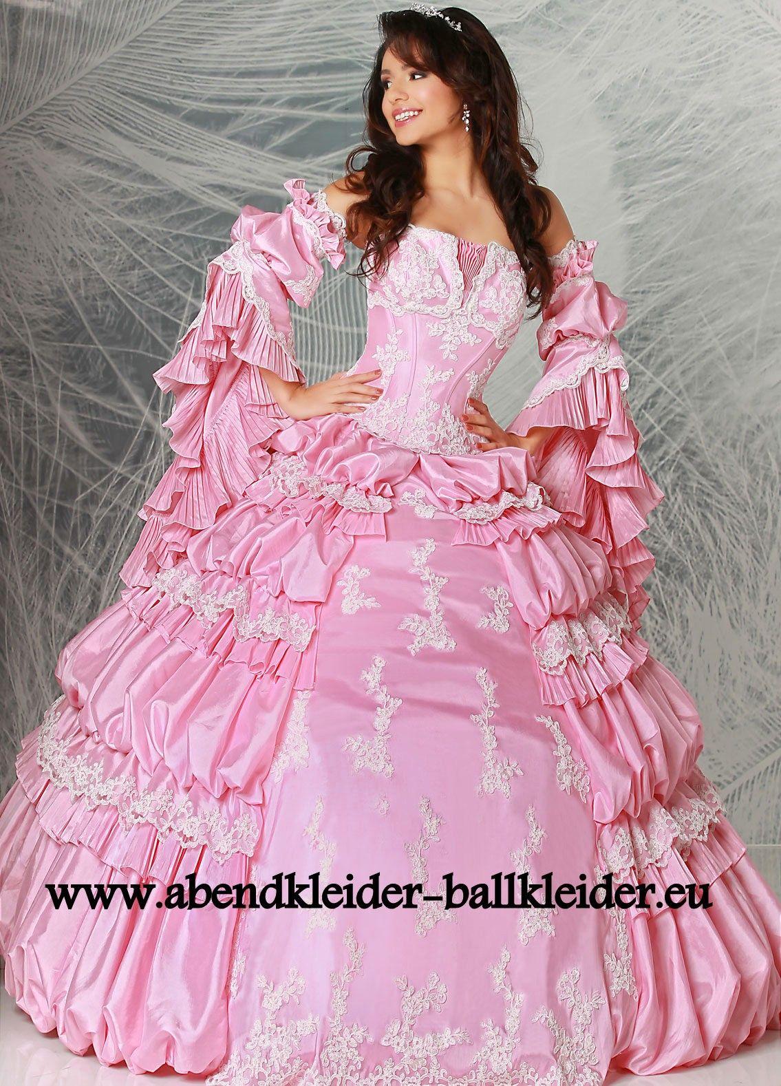 Amerikanisches Abend - Ballkleid Brautkleid Online in Rosa ...
