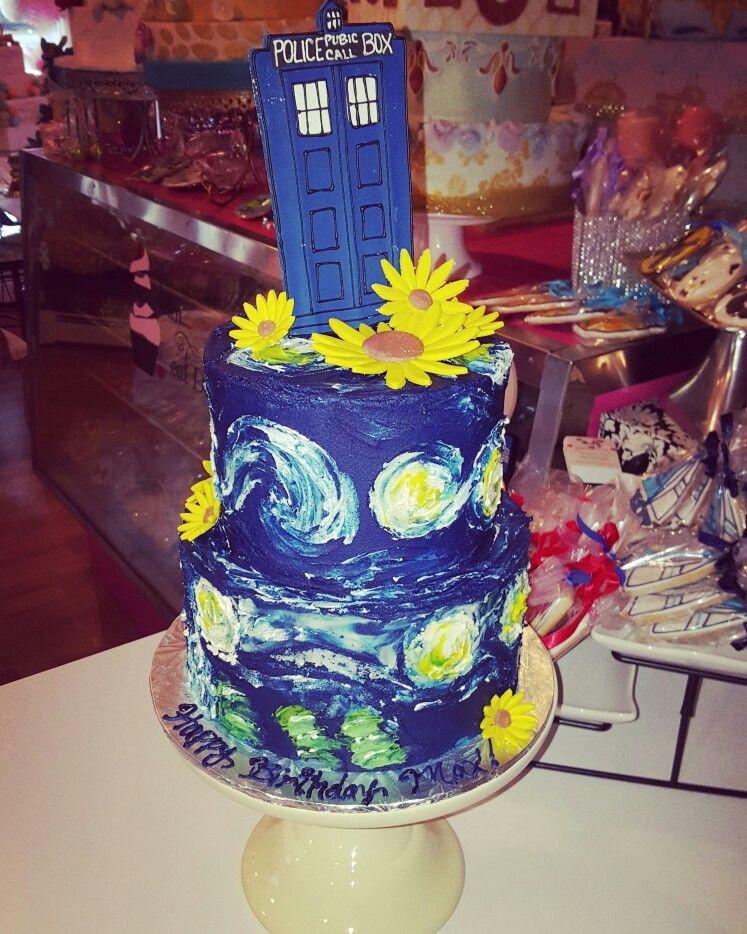 Dr who van gogh 30th birthday cake carinadolce www