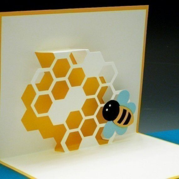More Bees This Time By Tracy Chong Cards Popup Pop Up Cards Bee Cards Pop Up Book