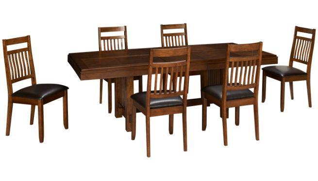Jofran Lewis Oak 7 Piece Dining Set Jordan S Furniture