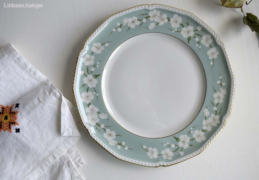vintage royal tettau germany us zone white flowers design lunch