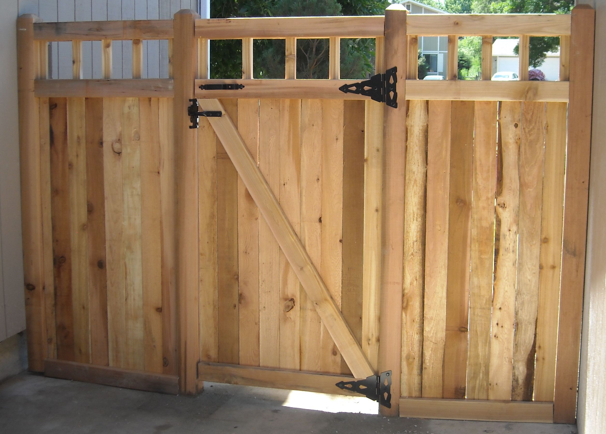 Cedar Gates Can Be Built To Any Size From Walk Gates To Double Drive Gates.  All Gates Can Come In Different Opening Styles Including Swing, Double  Swing,