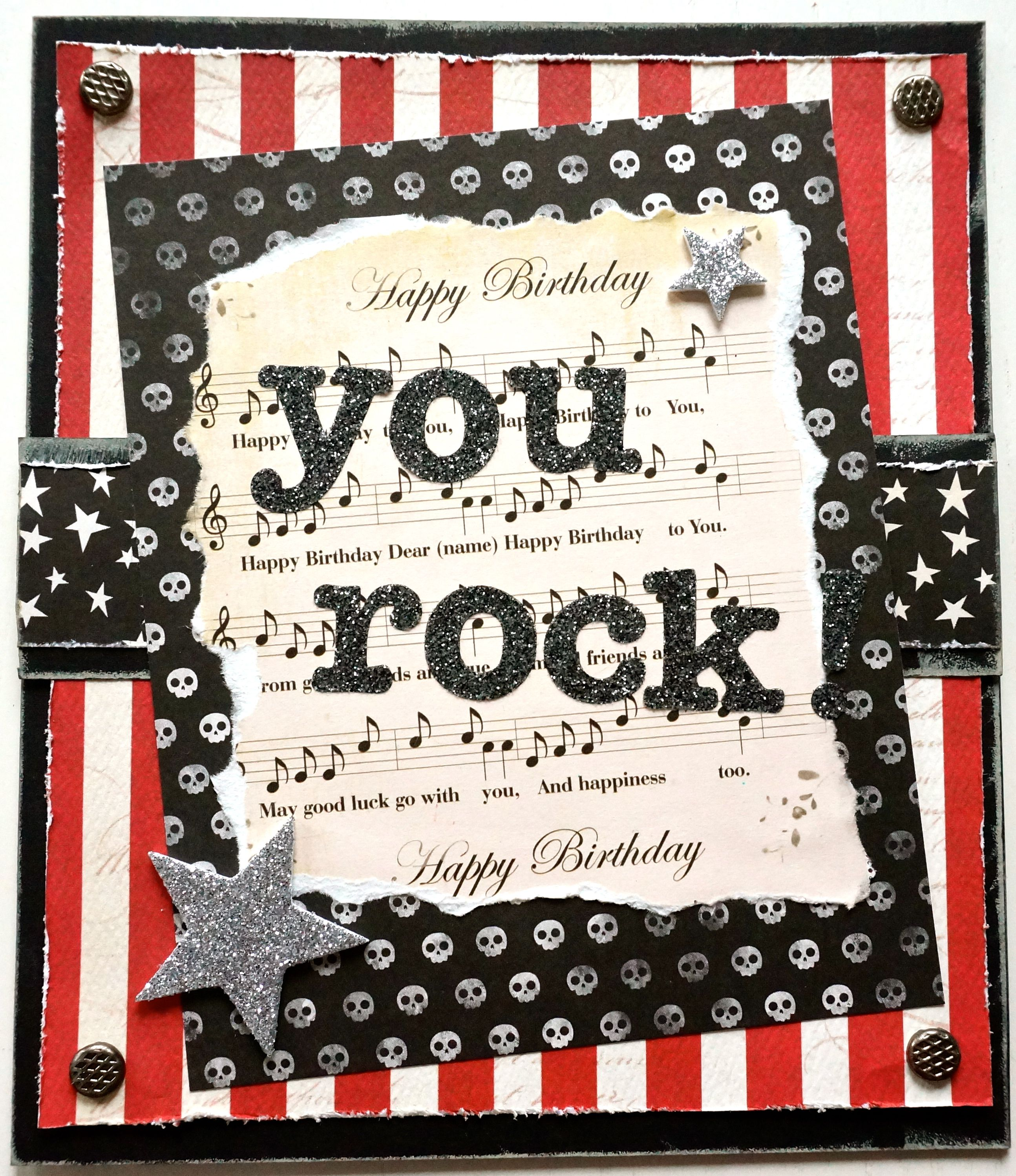 How to scrapbook birthday cards - Birthday Card Scrapbook Com
