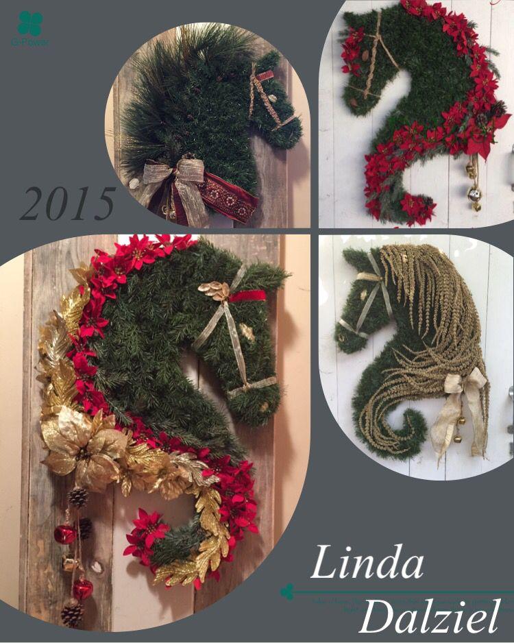Some of my best sellers for 2015, showcase of champions! Facebook: Horse Head Wreaths by Linda Dalziel LindaDalziel@aol.com