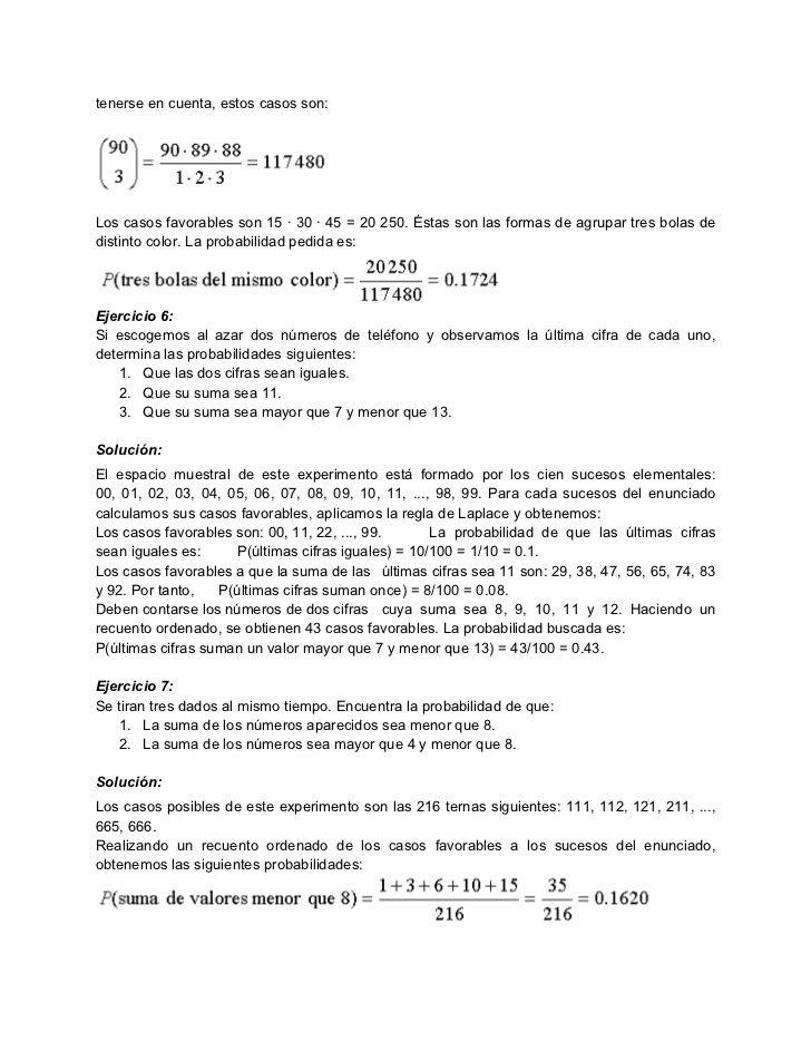 Ejercicios Resueltos De Clculo De Probabilidades 3 728 Jpg 728 943 Ejercicios Resueltos Ejercicios Numeros De Telefono
