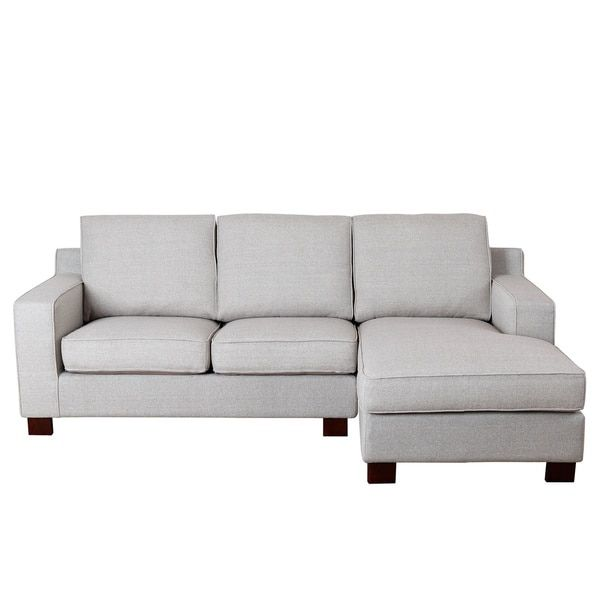 Best Abbyson Sectional Sofa With Chaise In Light Grey 400 x 300