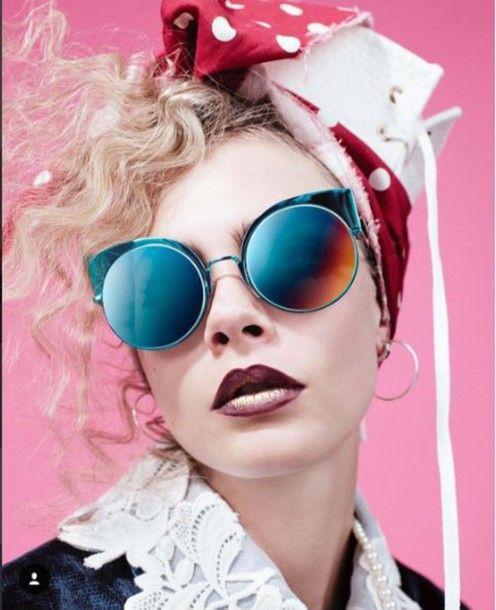 6512bd26466 Fendi Crystal Cateye Sunglasses in Blue Palladium