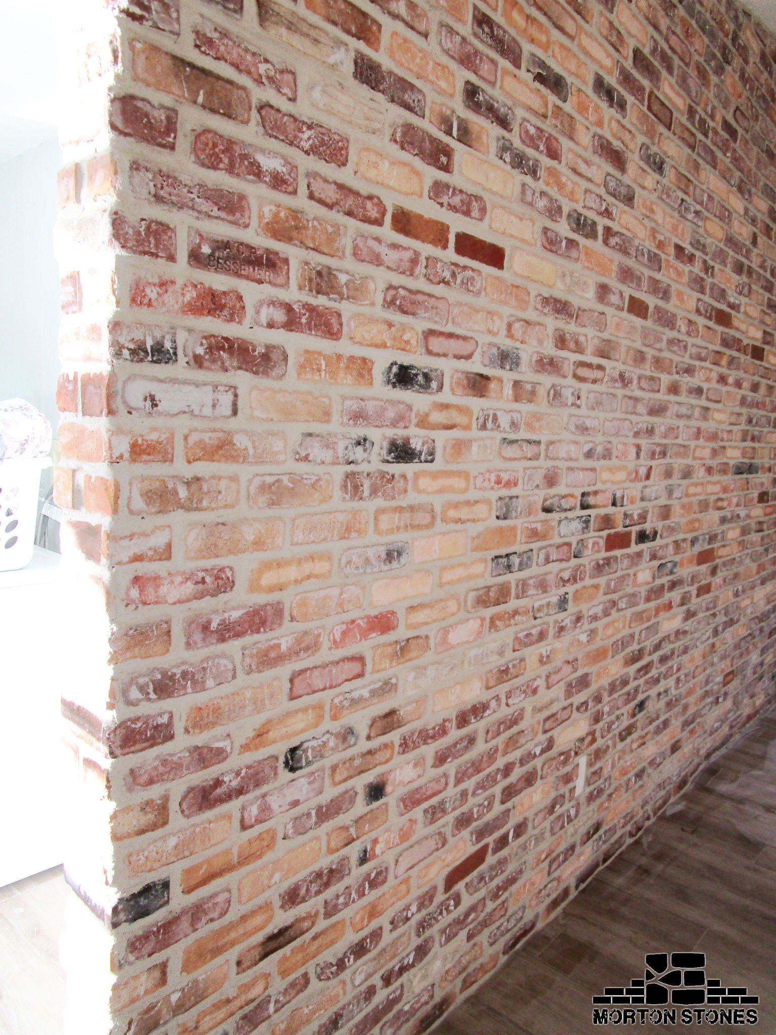 the perfect rustic brick feature wall